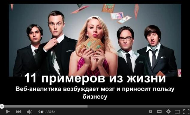 «11 примеров использования веб-аналитики в ежедневной работе маркетолога». Евгений Шевченко